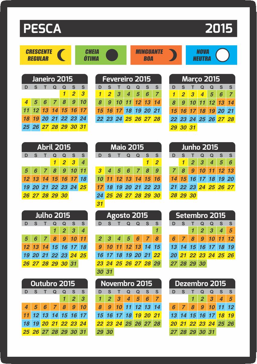 Calendário de bolso - Instruções Paulista Cartões