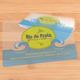 Capa de Destaque - PVC Transparente + Branco - Gráfica Paulista Cartões