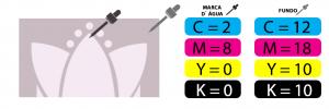 Marca d'água com cor de fundo l Gráfica Paulista Cartões