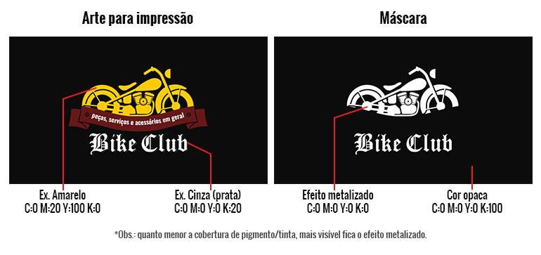 Materiais Metalizados - arte e máscara - Gráfica Paulista Cartões